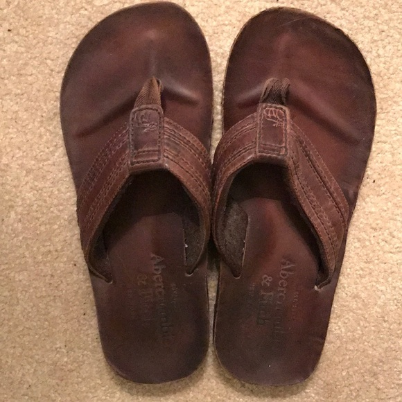 80b8d2a8919 Abercrombie   Fitch Other - Abercrombie   Fitch Men s Leather Flip Flops
